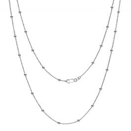 80cm Sterling Silver Bobble Station Chain