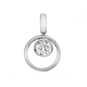 Sterling Silver and Cubic Zirconia Circle of Life Pendant