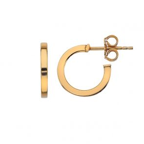 Gold Plated 14mm Square Tube Hoops