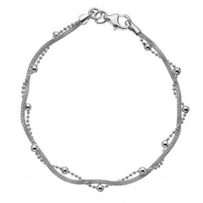 Sterling Silver Intertwined Stations Bracelet