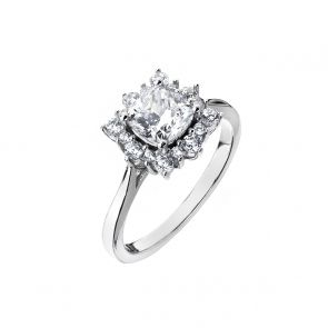 Sterling Silver and Cubic Zirconia Snowflake Ring