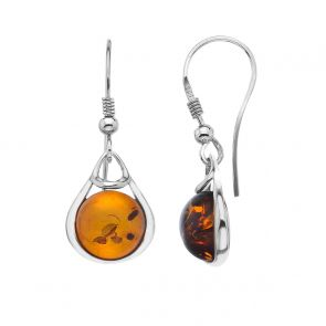 Sterling Silver and Amber Hepworth Earrings