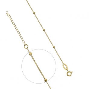 Gold Plated Bobble Necklace