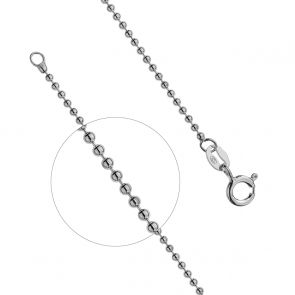 Sterling Silver Light Ball Chain