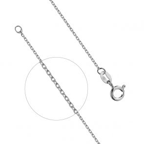 Sterling Silver Round Link Sparkle Chain