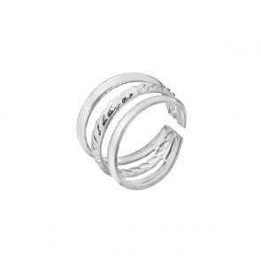 Sterling Silver Roped Toast Rack Ear Cuff