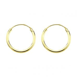 Gold Plated 12mm Hoops