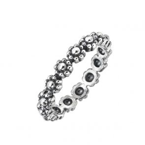 Sterling Silver Oxidised Daisy Chain Ring