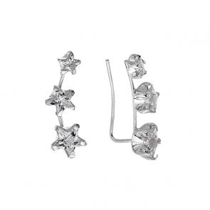 Sterling Silver and Cubic Zirconia Triple Star Climbers
