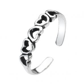 Cut Out Heart Sterling Silver Toe Ring
