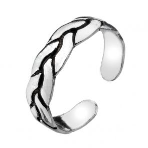 Sterling Silver Plait Toe Ring
