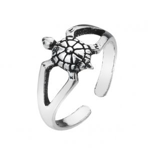 Tiny Turtle Sterling Silver Toe Ring
