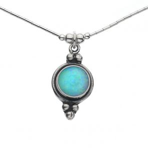 Round Opal Necklace