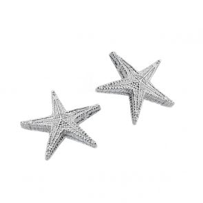 Sterling Silver Pointed Starfish Studs