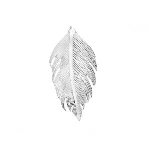 Sterling Silver Large Feather Pendant