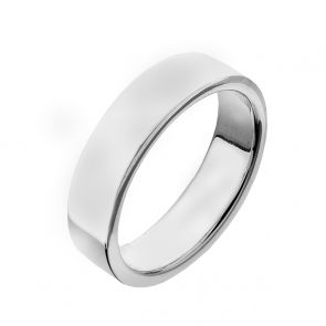 Sterling Silver Band Ring (6mm)