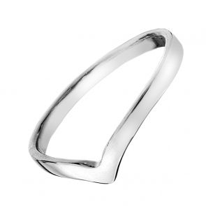 Sterling Silver Curved Wishbone Ring