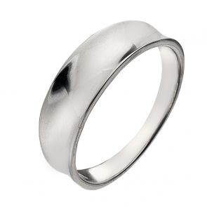 Sterling Silver Small Concave Ring