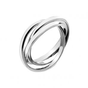 Sterling Silver 3 x 2mm Russian Wedding Ring