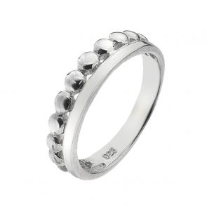Sterling Silver Bobble and Band Ring