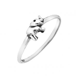 Sterling Silver Tiny Elephant Ring