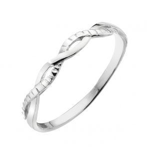 Sterling Silver Textured Twist Ring