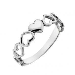 Sterling Silver Cut-Out Heart Ring