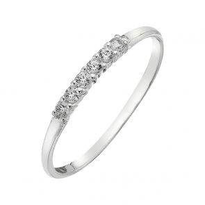 Sterling Silver and Cubic Zirconia Amelia Ring